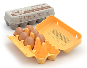 Rigged Egg Box 3D