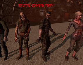 3D model Zombie Pack with dismemberment