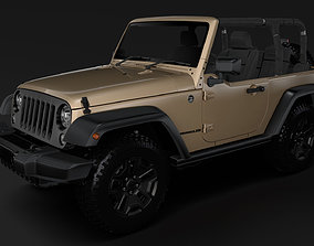 Jeep Wrangler Willys Wheeler JK 2017 3D