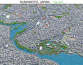 Kumamoto Japan 40km 3D asset VR / AR ready