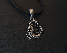 3D print model zodiac Capricorn pendant