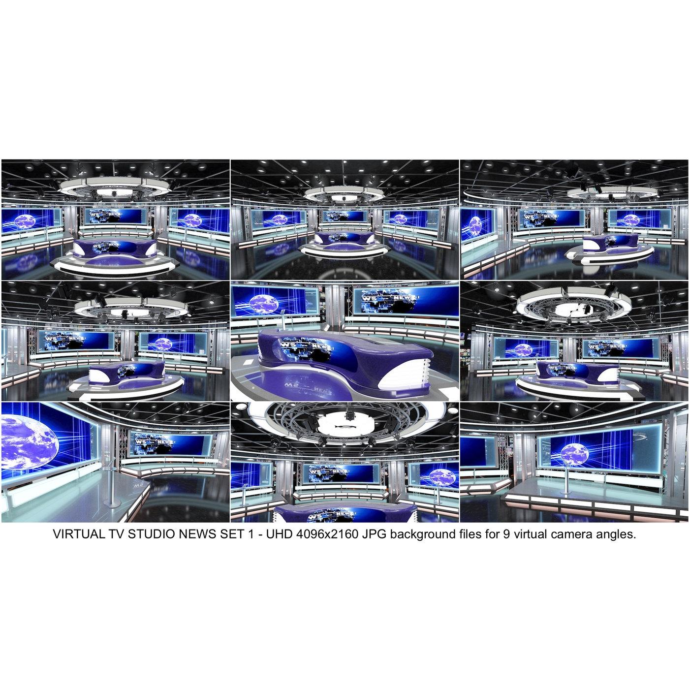 TV Studio News Set-1-Backgrounds