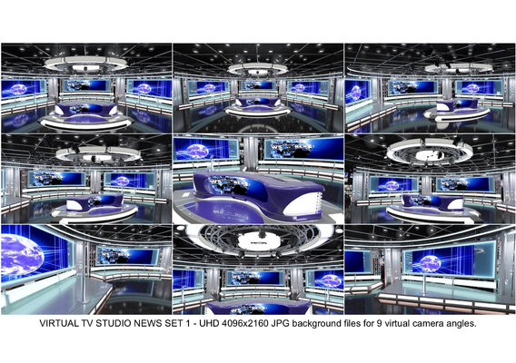 TV Studio News Set-1-Backgrounds