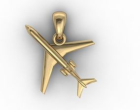 3D print model airplane pendant
