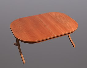 Oval Table 3D asset