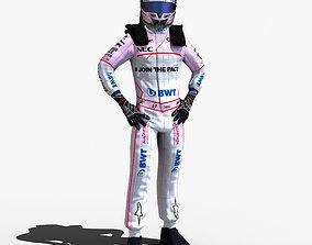 Sergio Perez 2017 3D model