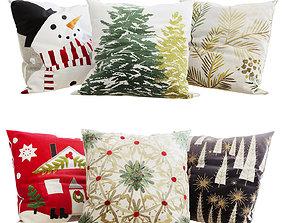 Decorative Pillows Christmas set 1 3D model
