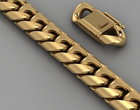 3D print model bracelet necklace gold