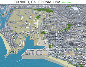 Oxnard California USA 30km 3D model