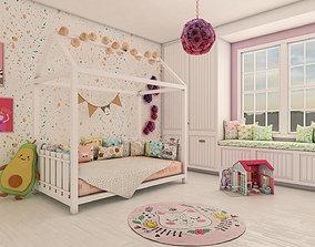 Kids Bedroom Montessori 3D model