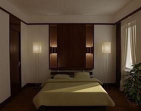 Bedroom 3D interior walls