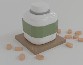 Medicine bottle 3D model health