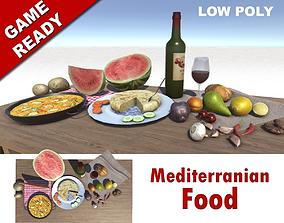 3D asset Mediterranian Food