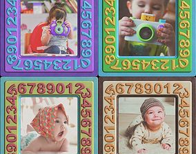 Portrait Photographs of Babies in Colored 3D model 2