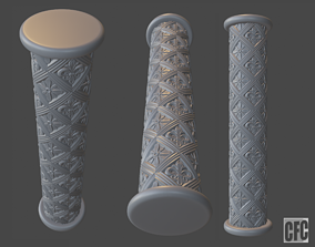 Goth shaft - 3d model for CNC - GothShaftCFC01