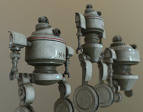Observer 3 Robot Modelling 3D asset