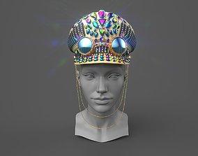 Captain hat with google 3D asset