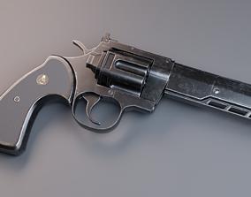 3D asset Serpent Triangle revolver