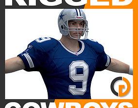 3D model NFL Player Dallas Cowboys - Rigged superbowl