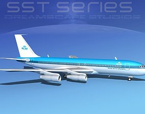 3D Boeing 707-320 SS KLM Royal Dutch