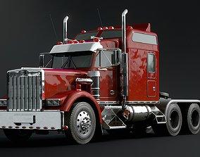 3D American semi truck