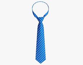 Blue classic necktie 02 3D model