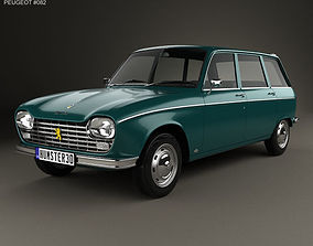 3D Peugeot 204 Break 1966