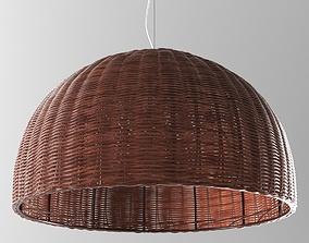 3D model Wicker chandelier odeon light buta