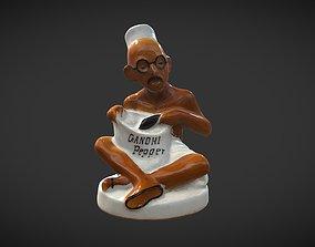 3D model VR / AR ready Gandhi Pepper Shaker