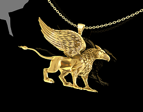 3D print model Griffin Pendant Jewelry Gold