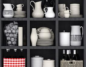 a 3D model Kitchen set