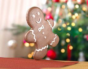 3D model cooky Gingerbread man