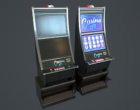Casino Slot Machine PBR 3D asset