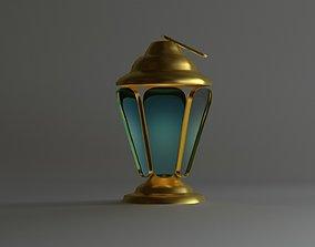 low-poly Islamic Ramadan Lantern 3D Model