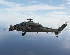3D model Agusta A129 Mangusta gunship helicpter