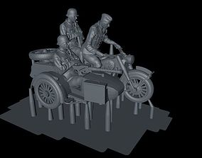 WEHRMACHT WW2 GERMAN SOLDIERS WITH BIKE 3D print