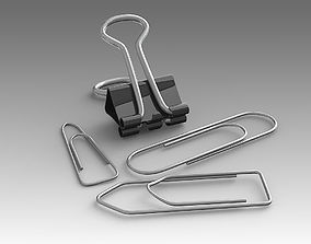 Stationery Paper clip 02 3D model modo