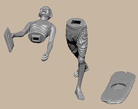 3D printable model Mahatma Gandhi