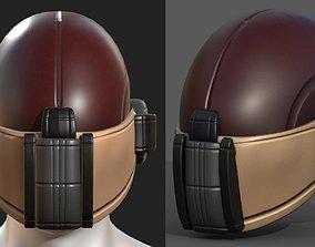 Helmet scifi military combat 3d model realtime