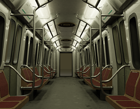 Subway train from Buenos Aires metro 3D model