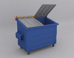 Dumpster dumpster 3D asset low-poly