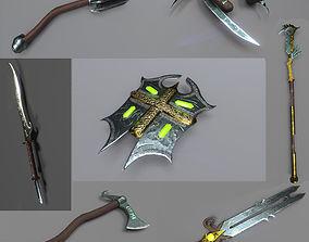 Fantasy Weapon Pack 3D model