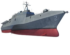 3D USS Independence LCS-2 Littoral Combat Ship
