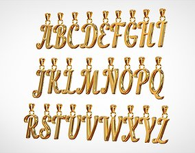 Nautilus Pompilius Font Alphabet Pendants 3D print model