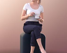 3D asset Elena 10664 - Sitting Business Woman