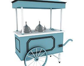 3D Ice Cream Cart cream