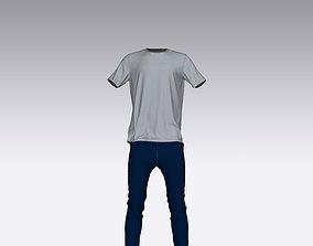 jeans pant t-shirt 3D printable model