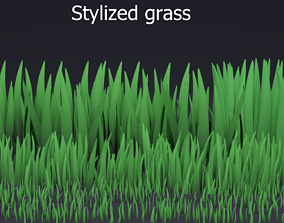 3D asset Stylized grass pack