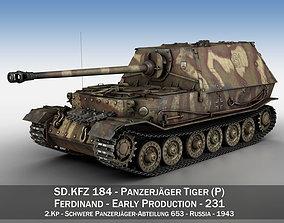 Ferdinand Tank destroyer - Tiger P - 231 3D