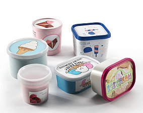 3D model Ice Cream in Containers
